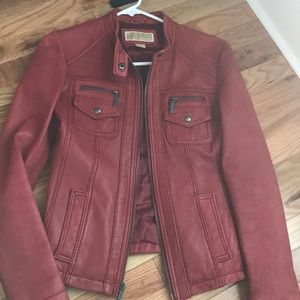 Michael Kors red leather jacket for fall!
